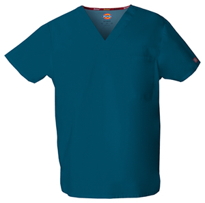 Dickies Unisex Tuckable V-Neck Top Caribbean Blue (83706-CAWZ)