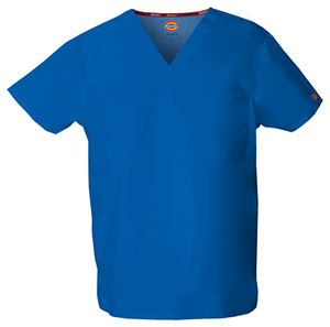 Dickies EDS Signature Unisex V-Neck Top in Royal (83706-ROWZ)