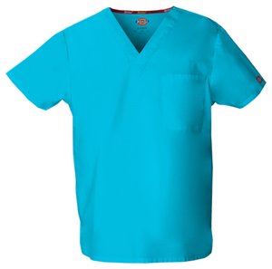 Dickies Unisex Tuckable V-Neck Top Turquoise (83706-TQWZ)