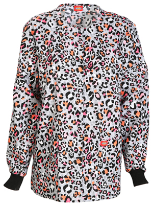 Dickies Snap Front Warm-Up Jacket Let There Be Leopard (84300C-LELD)