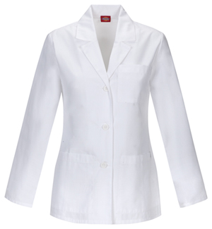 "Dickies Dickies Prof. Whites Women's 28"" Lab Coat White"