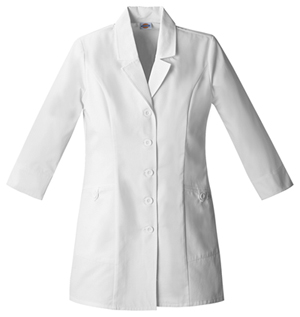 "Dickies Dickies Prof. Whites Women's 31"" Lab Coat White"