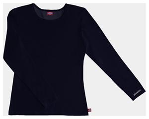Dickies Solids Women's Long Sleeve Underscrub Knit Tee Black