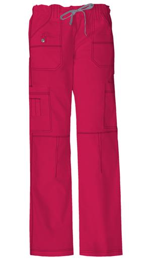 Dickies Gen Flex Women's Low Rise Drawstring Cargo Pant Red