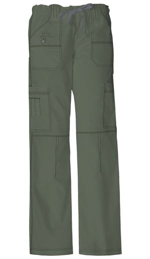 Gen Flex Women's Low Rise Drawstring Cargo Pant Green