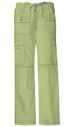 Gen Flex Women's Jr. Fit Low Rise Drawstring Cargo Pant Green