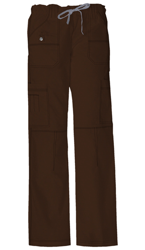 Dickies Gen Flex Women's Jr. Fit Low Rise Drawstring Cargo Pant Brown