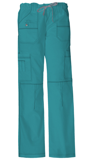 Dickies Gen Flex Women's Jr. Fit Low Rise Drawstring Cargo Pant Green