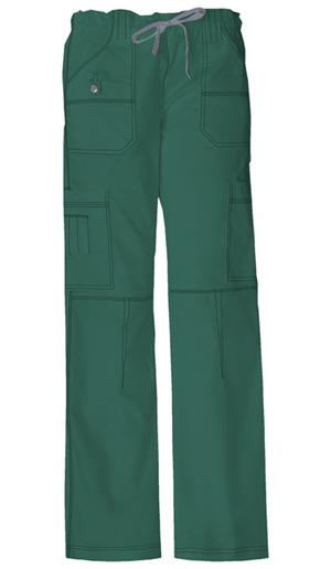 Gen Flex Women's Low Rise Drawstring Cargo Pant Green