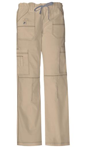 Dickies Gen Flex Women's Jr. Fit Low Rise Drawstring Cargo Pant Khaki