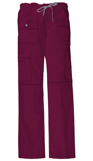 Dickies Gen Flex Women's Jr. Fit Low Rise Drawstring Cargo Pant Red