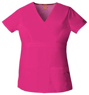 Dickies Mock Wrap Top Hot Pink (85820-HPKZ)