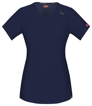 Dickies V-Neck Top Navy (85948A-NVWZ)