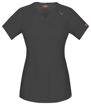 Dickies V-Neck Top Pewter (85948A-PTWZ)