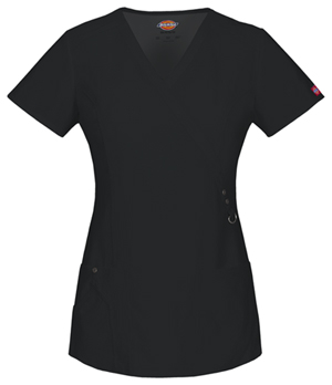 Dickies Mock Wrap Top Black (85956-BLKZ)
