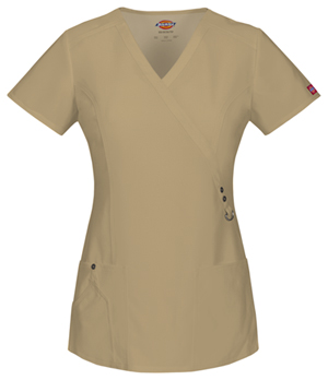 Dickies Mock Wrap Top Dark Khaki (85956-KHIZ)
