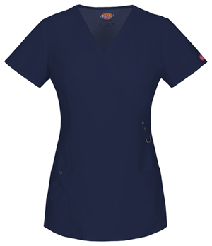 Dickies Xtreme Stretch Mock Wrap Top in D-Navy (85956-NVYZ)