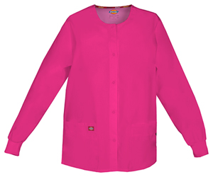 Dickies Snap Front Warm-Up Jacket Hot Pink (86306-HPKZ)