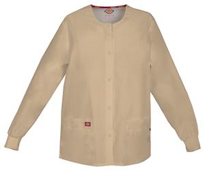 Dickies Snap Front Warm-Up Jacket Dark Khaki (86306-KHIZ)