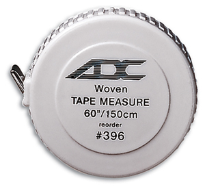 ADC Woven Tape Measure Standard White (AD396Q-WHT)