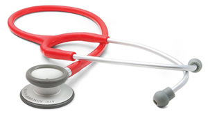 student lightweight ADSCOPE-Ultra Lite Clinician Stethoscope (AD619-RED) (AD619-RED)