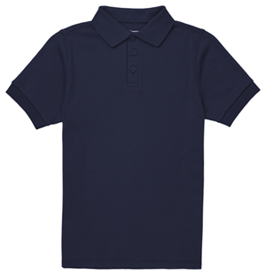 Classroom Uniforms Adult Short Sleeve Interlock Polo SS Navy (CR891X-SSNV)