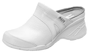 Mozo Women's Leather Clogs White