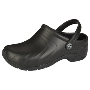 Anywear Medical Footwear Unisex Anywear Injected Clog w/Backstrap Black
