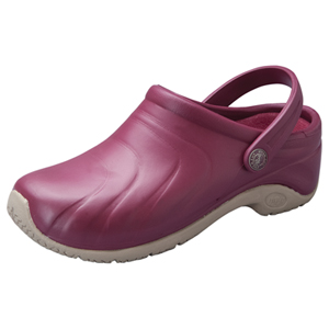 Anywear Medical Footwear Unisex Anywear Injected Clog w/Backstrap Red