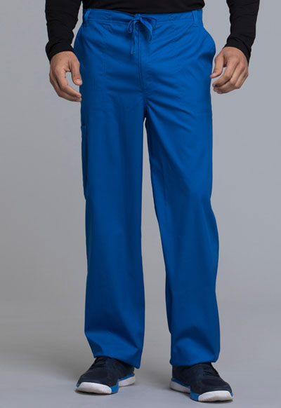 Luxe Men Men's Fly Front Drawstring Pant Blue