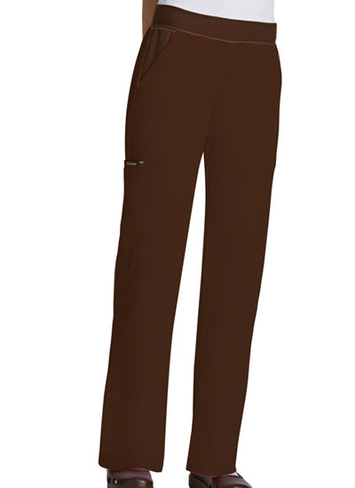 Flexibles Women's Mid-Rise Knit Waist Pull-On Pant Brown