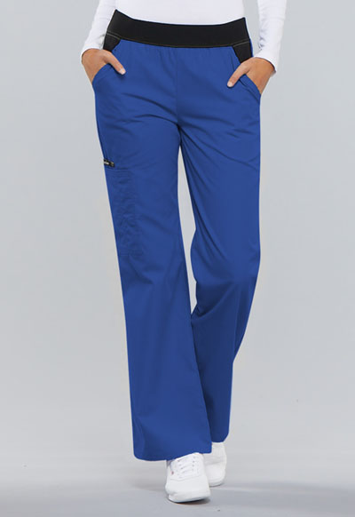 Flexibles Women Mid Rise Knit Waist Pull-On Pant Blue