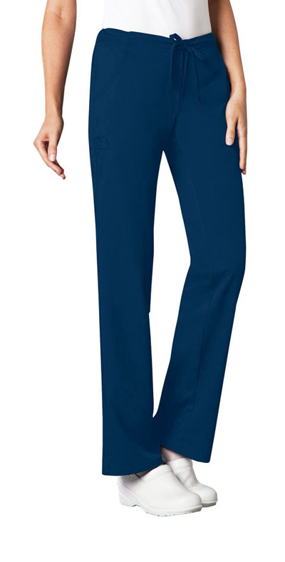 Cherokee Luxe Women\'s Low Rise Straight Leg Drawstring Pant Blue