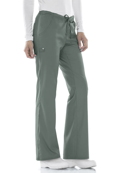 Luxe Women Low Rise Straight Leg Drawstring Pant Green