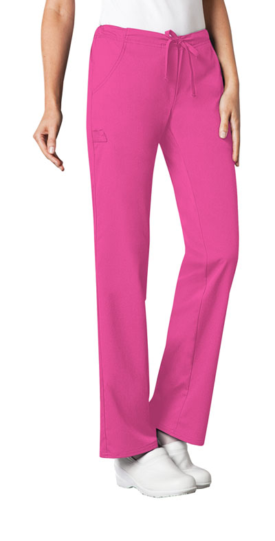Luxe Women's Low Rise Straight Leg Drawstring Pant Pink