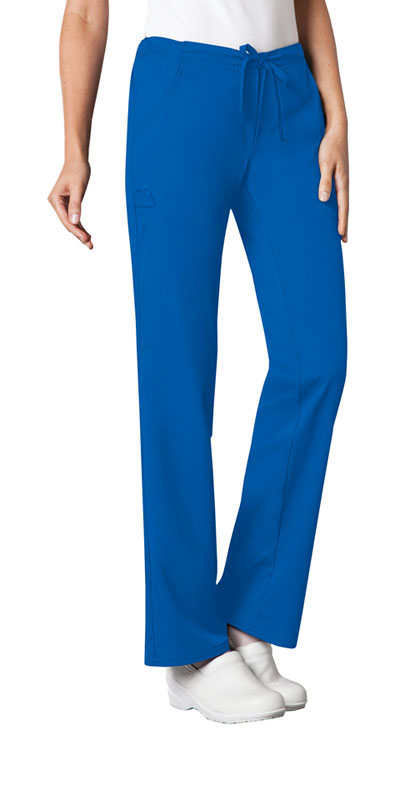 Cherokee Luxe Women's Low Rise Straight Leg Drawstring Pant Blue