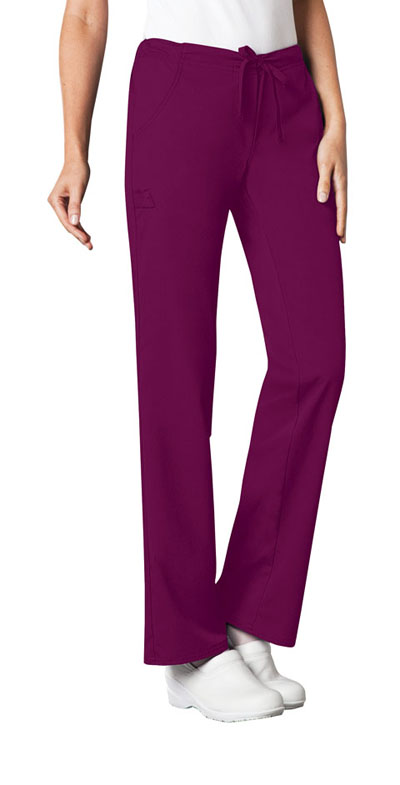 Luxe Women Low Rise Straight Leg Drawstring Pant Red