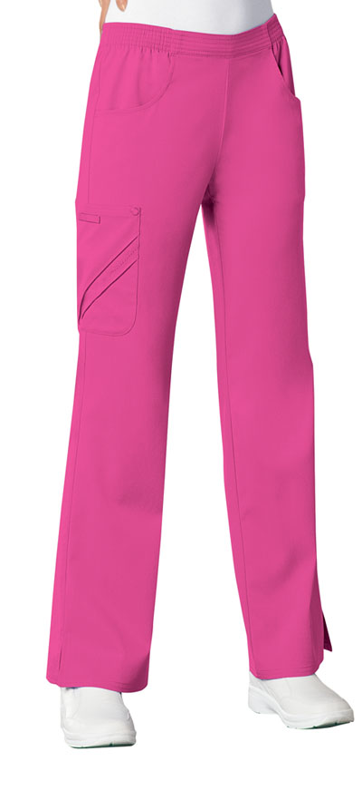 Luxe Women's Mid-Rise Pull-On Cargo Pant Pink