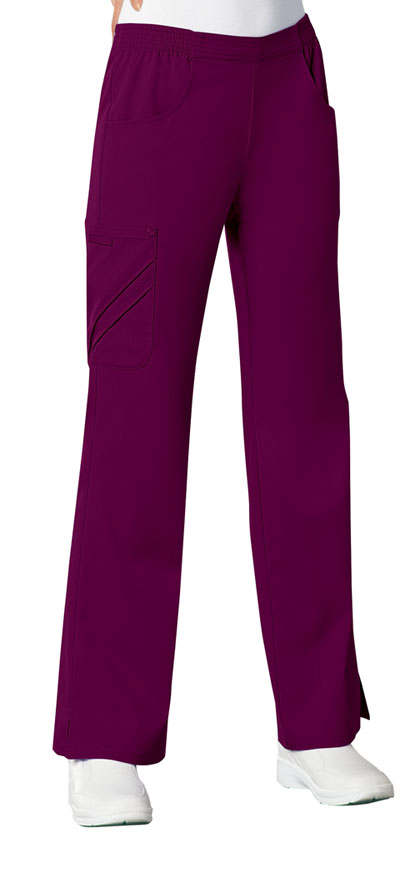 Luxe Women's Mid-Rise Pull-On Cargo Pant Red