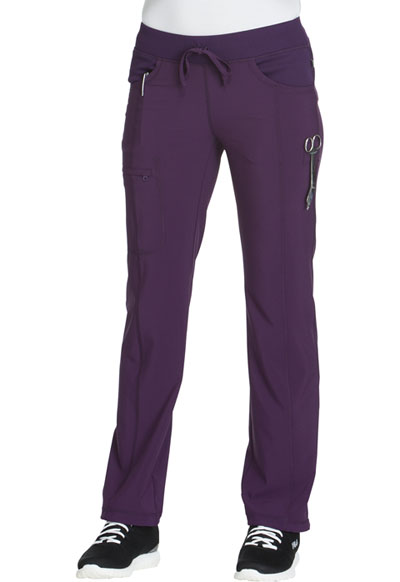 Infinity Women's Low Rise Straight Leg Drawstring Pant Purple