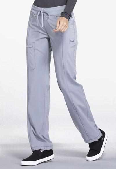 Cherokee Scrubs Low Rise Straight Leg Drawstring Pant 1123A GRY Grey