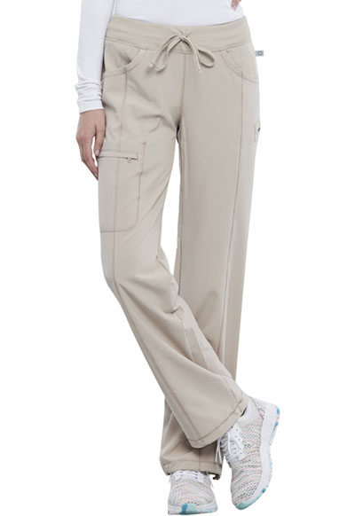 Infinity Women Low Rise Straight Leg Drawstring Pant Khaki