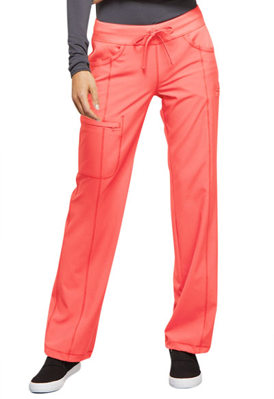 Infinity Women's Low Rise Straight Leg Drawstring Pant Orange