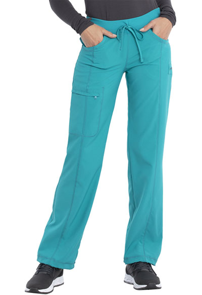 Infinity by Cherokee Women's Low Rise Straight Leg Drawstring Pant Blue