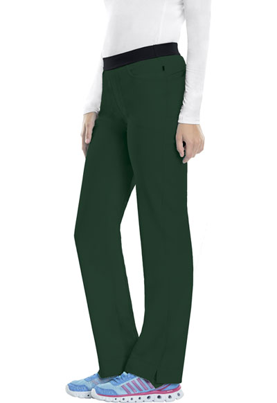 9d2342a6129 Photograph of Infinity Women's Low Rise Slim Pull-On Pant Green 1124AT-HNPS