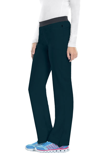 Infinity Women Low Rise Slim Pull-On Pant Blue