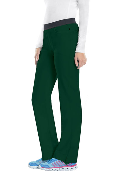 Infinity Women Low Rise Slim Pull-On Pant Green