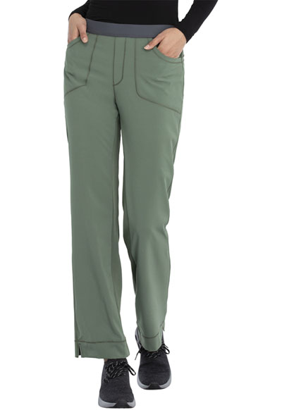 Infinity Women's Low Rise Slim Pull-On Pant Green