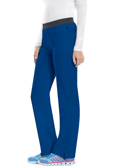 Cherokee Infinity Women's Low Rise Slim Pull-On Pant Blue