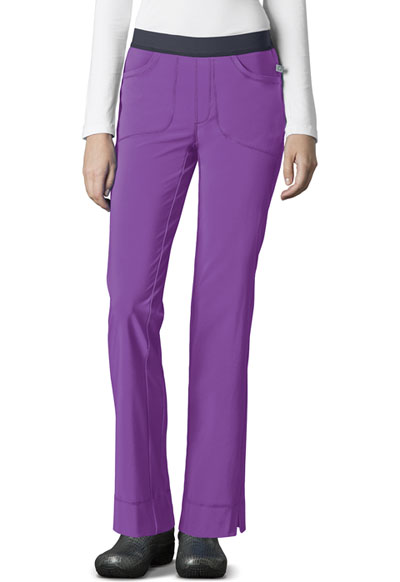 Infinity Women's Low Rise Slim Pull-On Pant Purple